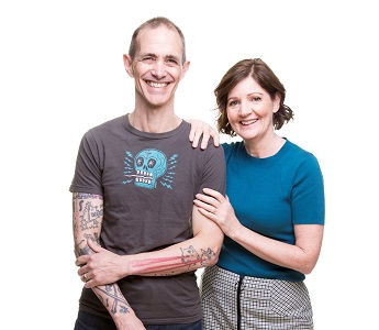 A portrait of Andy and Jill Griffiths