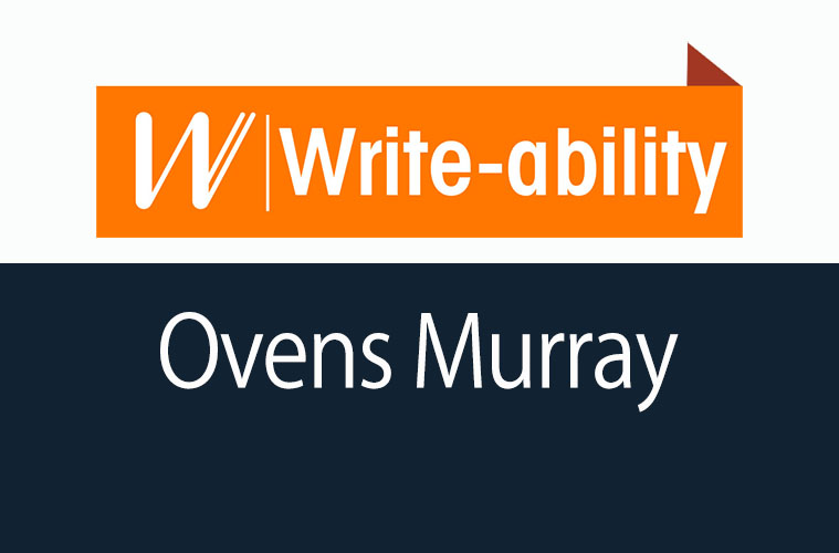 The Write-ability Ovens Murray logo
